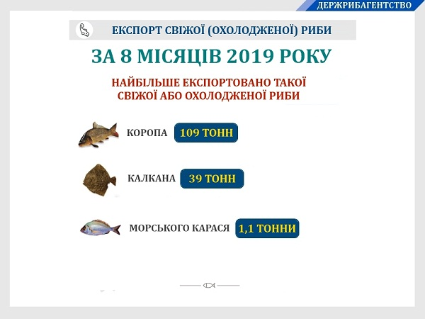 Експорт української свіжої (охолодженої) риби збільшився на 40%, - Держрибагентство